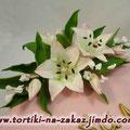Лилии на юбилей Пиковая дама. Мастика 3,2кг