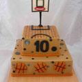 Баскетболисту Бисквитные коржи с халвой, сметанный крем. Мастика. 4,2кг
