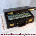 Чемодан денег Шоколадный бисквит, трюфельный крем, орехи грецкие, чернослив. Мастика 4,5кг