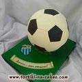 Футбольный мяч для фаната РОТОРА Шоколадный бисквит, трюфельный крем, грецкие орешки, миндаль. Мастика 3,1кг