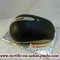 Черная мышь Сникерс с фундуком. Мастика 2,5кг