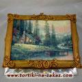 Пейзаж Шоколадный бисквит, суфле птичье молоко, шоколадная крошка, вишня. Мастика 3,4кг