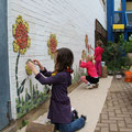 mosaik mit kindergartenkindern