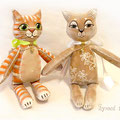 Кошка Коко и кот Полосатик.