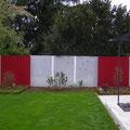 "Sichtschutzelemente ""Klare Linien-Kölner Farben"" I Formaler Privatgarten I Köln"