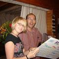 Karla und Christophe, ihr Gastpapa