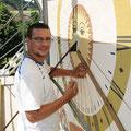 Renovation Sonnenuhr durch unseren Mitarbeiter Thomas Aebi
