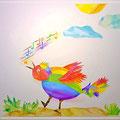Der glückliche Regenbogensänger NOCH in seiner alten Heimat
