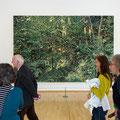 """Bild aus der Installation """"vier Jahreszeiten"""" von Franz Gertsch in der Wandelhalle"""