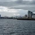 Ansicht der Stadt vom Hafen