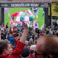 Public Viewing Endspiel Fußballweltmeisterschaft 2014 auf dem Ingolfstórg