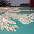 Originalgetreues Relief von Island im Rathaus