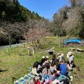 3月23日、青空共同保育「つくしとたね」連携プロジェクト+大沢谷広場プロジェクト