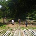 8月9日、大沢谷竹林整備プロジェクト