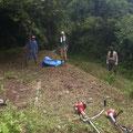 7月31日、農園管理プロジェクト+イノシシ被害対策プロジェクト