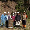 2015年2月28日、炭焼き復活プロジェクト