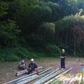 8月16日、大沢谷竹林整備プロジェクト
