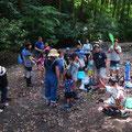 0624 生物保全・調査プロジェクト(葉山まちづくり展参加「森戸川源流の生きもの観察会」)