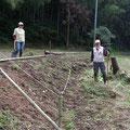 10月12日、イノシシ被害対策プロジェクト+大沢谷広場プロジェクト