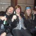 Jeff,our tourmanager, Uli and me