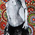 """Tanz Nr.13"" | Acryl auf Sperrholz | 85x185cm"