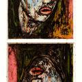 "KOTO | ""Doppelhopf II"" | Hinterglasmalerei"