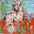 Ohne Titel | Hinterglasmalerei | 70x50cm