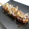 Skewered Japanese Style Pancake (OKONOMIYAKI) お好み焼き串(大)