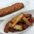 Squid Cake mixed with Edamame  海鮮枝豆棒