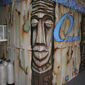 tiki hut 2004 acrylic on wood