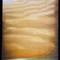 "CloserToTheSun 2013 (12""x24"") acrylic & burned wood"