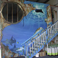 sunkendiveshop 2004 (30'x16') acrylic on wall