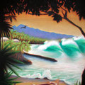 "ReefHawaiianPro 2010 (36""x48"") acrylic on wood panel"