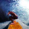 "WalkingOnADream 2002 (36""x36"") acrylic on canvas"
