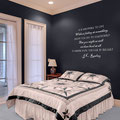 It is impossible to live without failing at something JK Rowling quote vinyl wall art decal from www.wallartcompany.co.uk