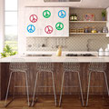Skinny, Normal and Chunky peace sign sticker on kitchen cabinets home decorating.