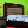 Wall art sticker Skinny Peace sign set on a bedroom wall