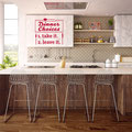 Funny Dinner Choices wall decals for kitchen