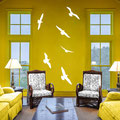Six seagulls vinyl wall art.