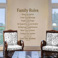 Family Rules - Love One Another quote vinyl wall art Christian religious extracts