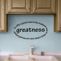 To vilify a great man is the readiest way in which a little man can himself attain greatness vinyl wall art quote by Edgar Allen Poe