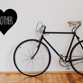 Brother Heart, showing the love vinyl wall art from www.wallartcompany.co.uk