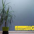 Dream Big vinyl wall art quote from www.wallartcompany.co.uk