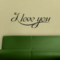 I love you vinyl wall art quote from www.wallartcompany.co.uk