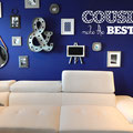 Cousins make the Best Friends vinyl wall art home decorating quote from www.wallartcompany.co.uk