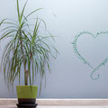 Musical love heart decal for home decorating.