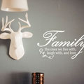 Family the ones we live with, laugh with, and love vinyl wall art quote from www.wallartcompany.co.uk