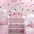 Night night sleep tight dream of stars shining bright vinyl wall art decal