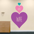 Wife hearts vinyl wall art stickers from www.wallartcompany.co.uk