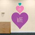 Wife hearts vinyl wall art stickers from www.wallartcompany.co.uk